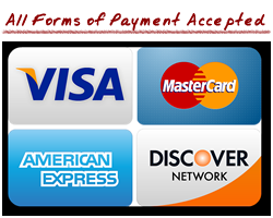 All forms of payment accepted